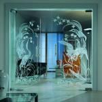 Сантехнические стеклянные перегородки